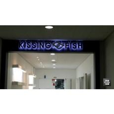 성수동 'KISSING&FISH' 후광 LED 조명 채널 및 레이저 컷팅 채널